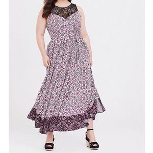 NWT TORRID Mixed Print Maxi Dress